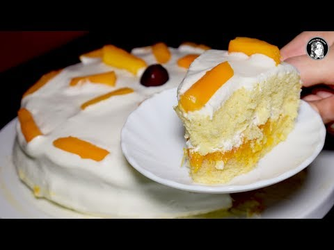 Mango Cake Recipe Without Oven - How to make Mango Cake by Kitchen With Amna