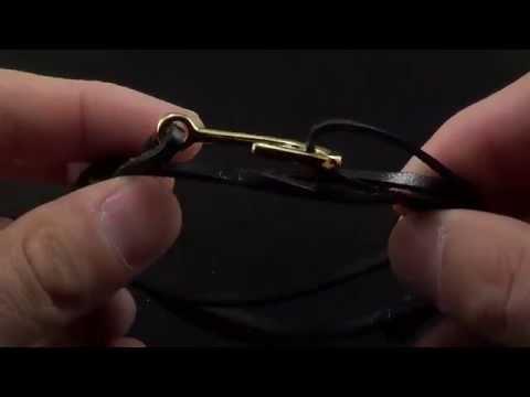 Men's Black Leather Wrap Hook Bracelet   SelectMensJewelry.com