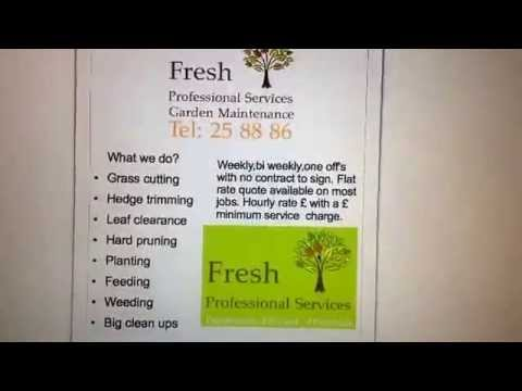 Garden maintenance flyers/leaflet