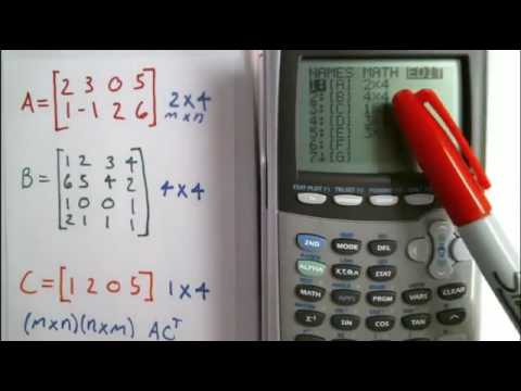 Dimensions of a matrix in a calculator and why its useful - TI - 84