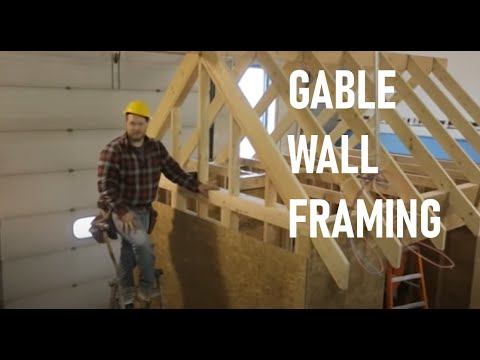 Roof Framing Part 5: Gable End Wall Framing