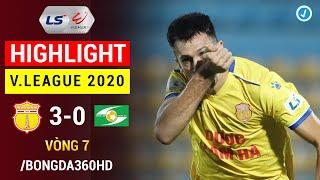 Highlight | DNH Nam Định 3-0 Sông Lam Nghệ An | Vòng 7 V.League 2020 | SLNA bại trận ở Thiên Trường