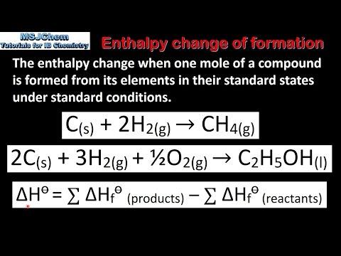 5.1 Standard enthalpy change of formation (SL)