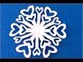 Ажурная снежинка из бумаги Paper Snowflake