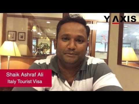Shaik Ashraf Ali Italy Tourist Visa  PC Aarti