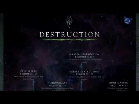 Skyrim Skills - Destruction Skill Tree