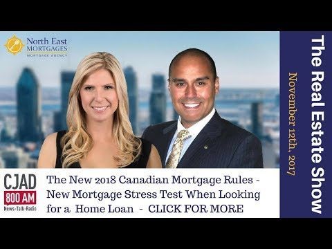 The New 2018 Canadian Mortgage Rules - New Mortgage Stress Test When Looking for a  Home Loan