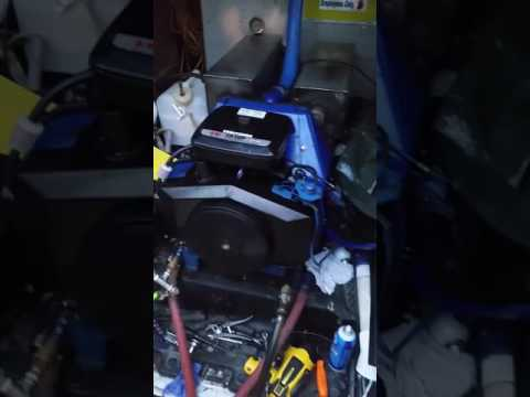 Carpet cleaning machine replace engine on carpet cleaning truck mount