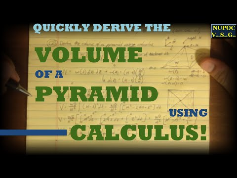 NUPOC VSG #101 - Derive Volume of a Pyramid Using Calculus