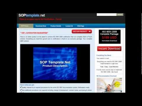 ISO 9000 Procedure Templates