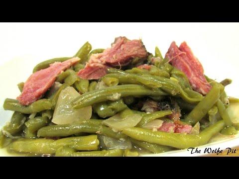 Southern Green Beans & Smoked Ham Hocks - Green Bean Recipe