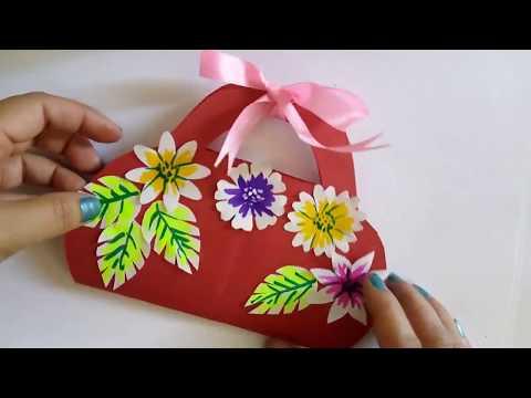 DIY Mothers Day Cards Idea With Innovative 3D Flower Basket Design