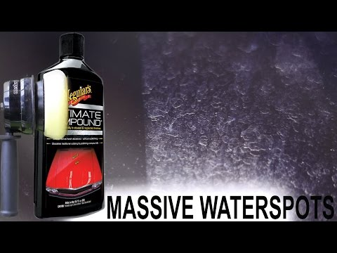 How To Remove Water Spots on Windshield : Meguiars Ultimate Compound