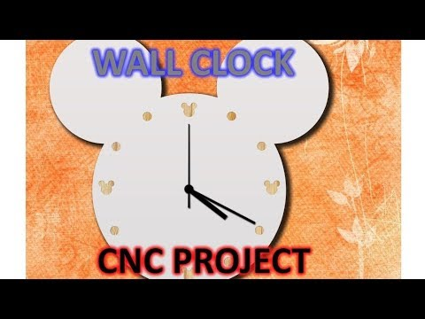 Mickey mouse wall clock. CNC project