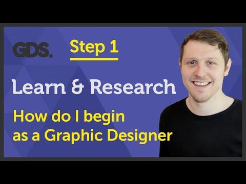 'Learn & Research' How do I begin as a Graphic Designer? Ep22/45 [Beginners Guide to Graphic Design]