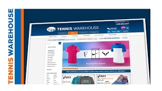 Tennis Warehouse New Website Commercial