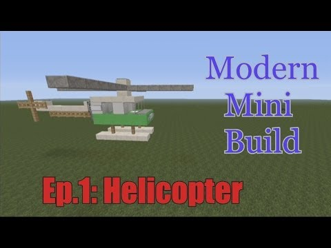 Minecraft Xbox 360 - Modern mini build Episode 1: Helicopter