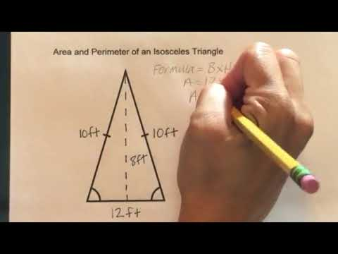 How to find the Area and Perimeter of an Isosceles Triangle