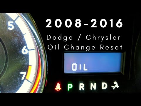 2008-2016 Dodge Grand Caravan / Chrysler Town & Country Van Oil Life Reset