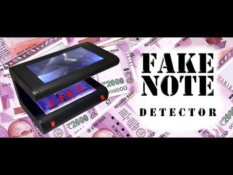Handmade fake money detector for 2000 rs and 500 rs new Note