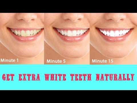 How to get White Teeth in 2 minutes    Natural Home Remedy