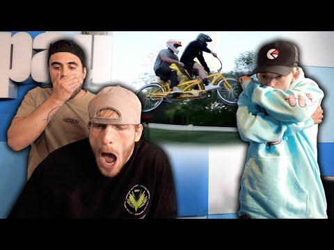 Reacting To Logan's Bike Crash Ft  Tanner Fox