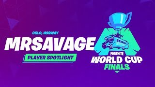 Fortnite World Cup Finals - Player Profile - MrSavage