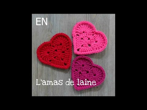 You'll be in my heart Coasters - crochet tutorial