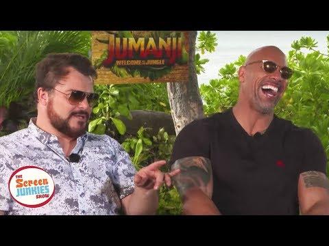 Jack Black Impersonates The Rock (Jumanji Cast Interview)