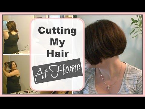 How I Cut My A Line Bob At Home | DIY Bob Haircut