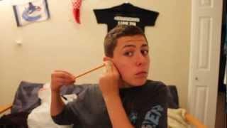 MAGIC TRICK -Put A Pencil In Your Head!!