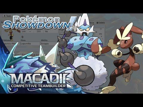 Mega Lopunny + Thundurus Team Builder!- Pokemon Showdown OU Team Building w. macadii (Smogon OU)