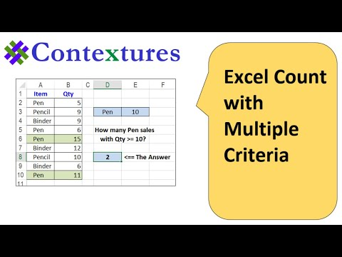 Excel COUNTIFS Count With Multiple Criteria