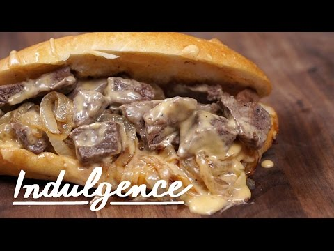How to Make this Perfect Steak Sandwich With Cheese Sauce and Caramelized Onions