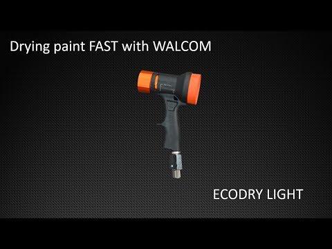 WALCOM ECODRY LIGHT - how to dry basecoat FAST