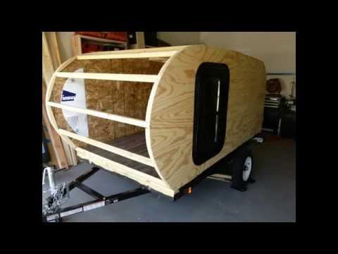 Building the Walls Teardrop Camper Build. Video #4 5 x 8 Ironton Trailer