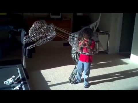 Best Homemade Dinosaur Ever Part 3 Halloween Costume Dilophosaurus T-Rex 2012 How to make