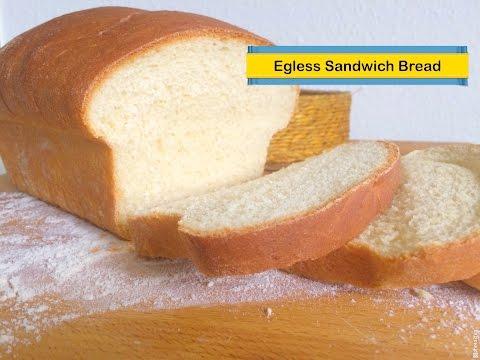Homemade  Eggless Sandwich Bread by Tastebeat