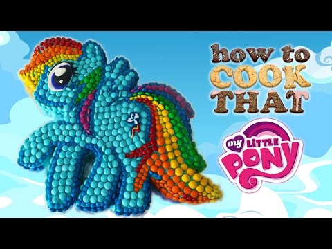 MY LITTLE PONY M&M CAKE (MLP party) How To Cook That Ann Reardon