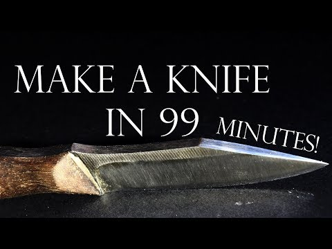 Making a Knife in 99 Minutes!
