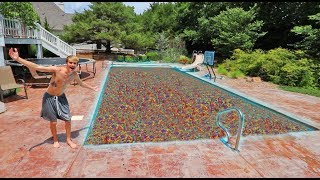 POOL FULL OF ORBEEZ PRANK ON MOM!