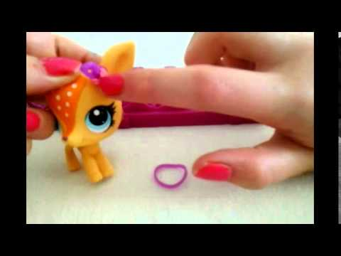 Lps D.I.Y- LoomBand Hair Bow accessories