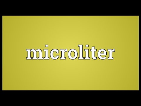 Microliter Meaning