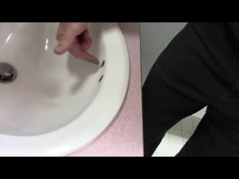 Sink odors from overflow holes cleaned with enzyme cleaner by ZEP