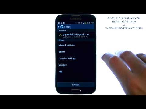 Samsung Galaxy S4 - How Do I Sync my Calendar with Gmail Account