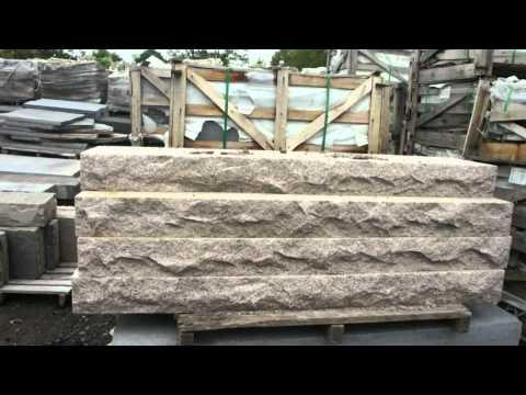 Natural Stone Steps. 6' wide and larger.
