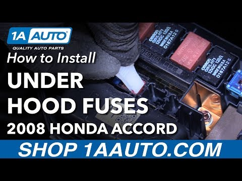 Where to Find Under Hood Fuse Box How to Change Fuses 2008 Honda Accord
