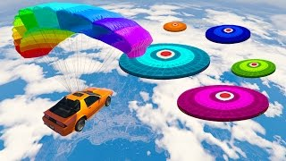 PARACHUTE CAR STUNT PARKOUR! (GTA 5 Funny Moments)