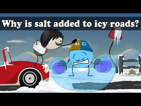 Why is salt added to icy roads? | It's AumSum Time