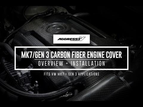 Aggressiv MK7/Gen 3 Carbon Fiber Engine Cover   USP Motorsports